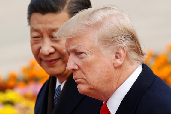 Xi Jinping, presidente de la República Popular China, y Donald Trump, presidente de Estados Unidos.