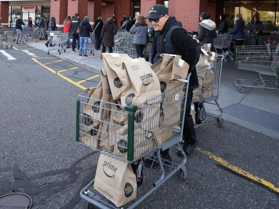 Amazon's online grocery sales tripled as people stayed home amid the coronavirus pandemic