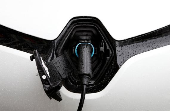 Cargador eléctrico del Renault Zoe