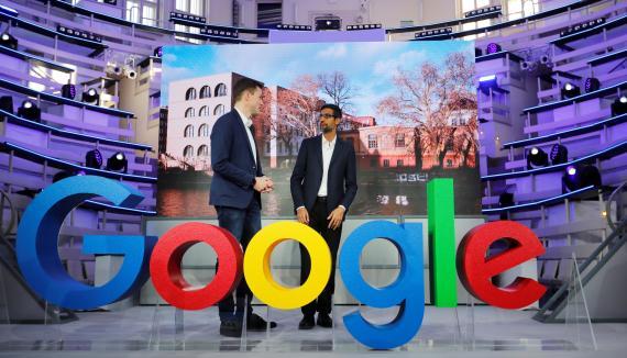 El CEO de Google, Sundar Pichai, inaugura las nuevas oficinas de su empresa en Berlín (Alemania)
