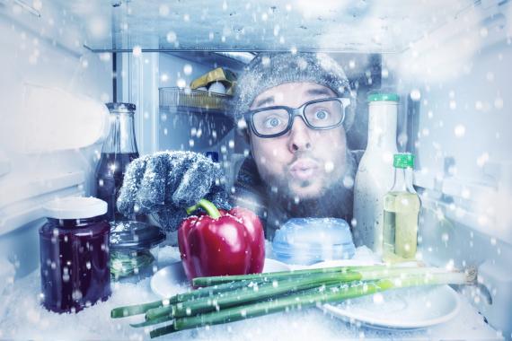 Comida en el congelador