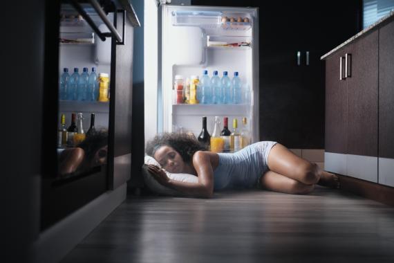 Dormir con el calor del verano.