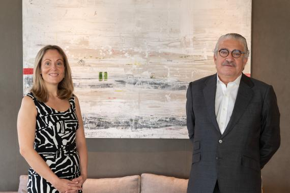 Enma Navarro, vicepresidenta del BEI, y José Bogas, CEO de Endesa