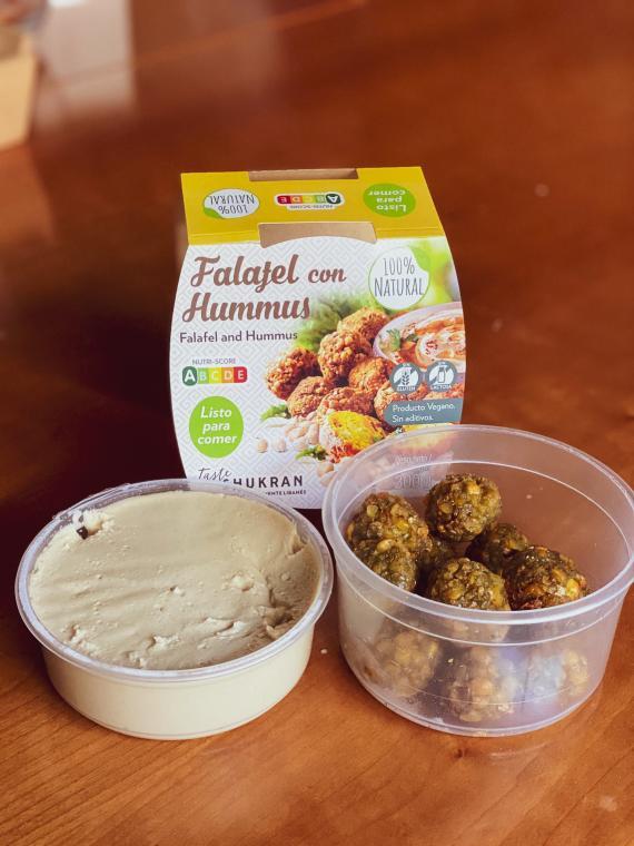 Falafel con hummus