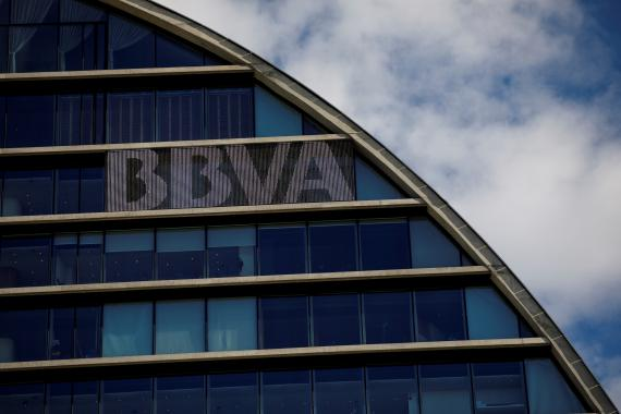 Una imagen del edificio corporativo de BBVA en Madrid