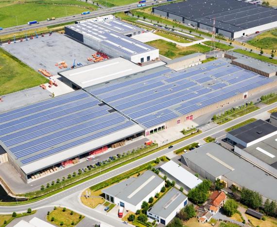 Instalación fotovoltaica para la empresa TVH en Bélgica