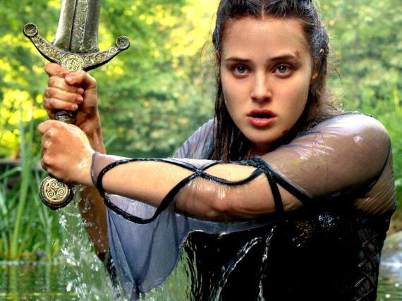 """Katherine Langford as Nimue in """"Cursed."""""""