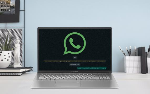 Modo oscuro en WhatsApp web