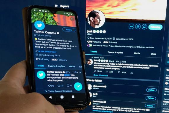 Perfil de Twitter de su CEO, Jack Dorsey.