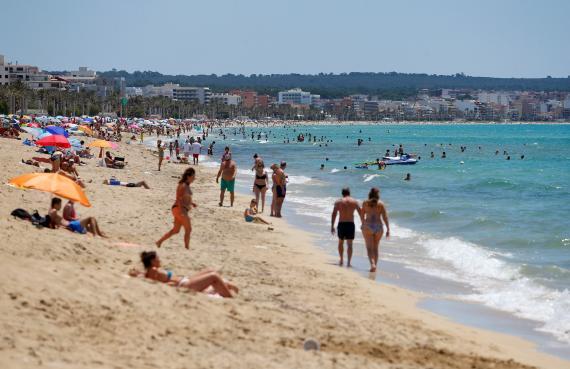 Playa durante el COVID