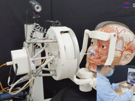 El robot de pruebas KIMM COVID-19.