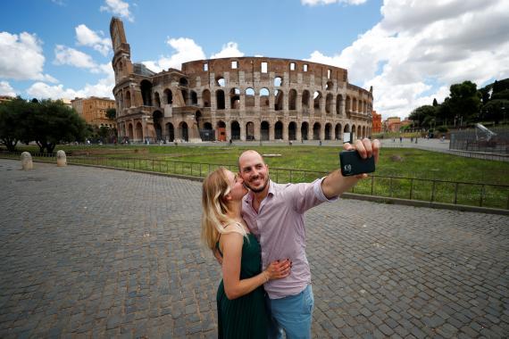 Selfie en Roma
