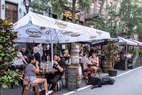 Una terraza en Nueva York, Estados Unidos, el 5 de julio de 2020.