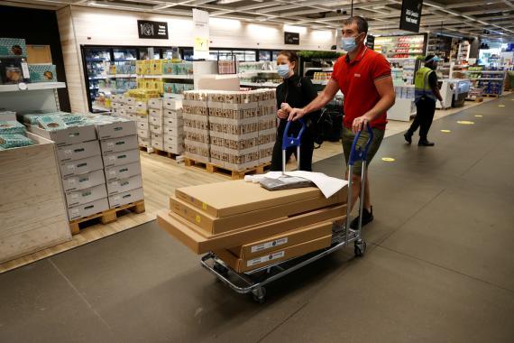 Tienda de Ikea durante la pandemia de coronavirus