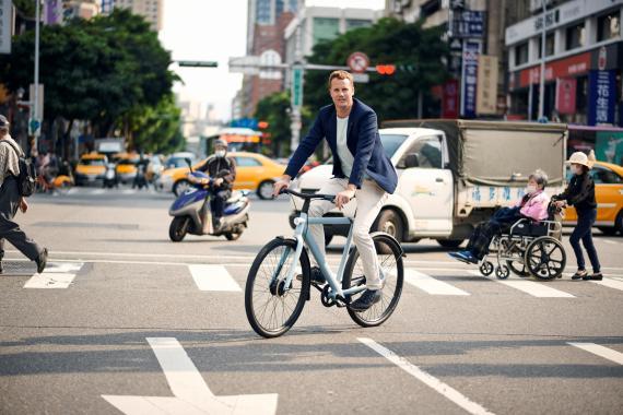 Ties Carlier, cofundador del fabricante holandés de bicicletas eléctricas Vanmoof.