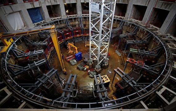 Vista general de la construcción del interior del Iter