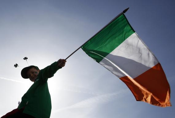 Una bandera de Irlanda