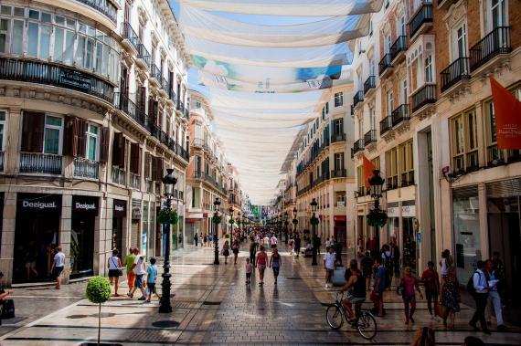 Calle Marqués de Larios, Málaga .