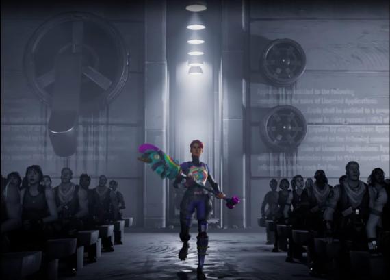 Epic Games, creadora de Fortnite, parodió el famoso anuncio '1984' de Apple.
