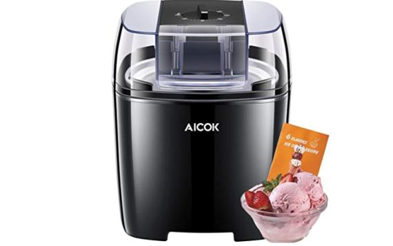 Máquina de helados con temporizador de yogur y sorbetes
