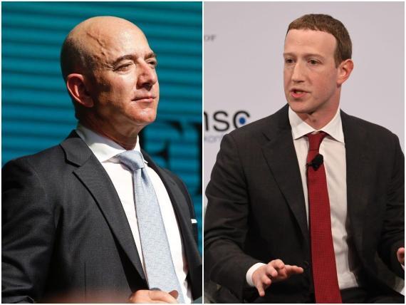 Jeff Bezos y Mark Zuckerberg.
