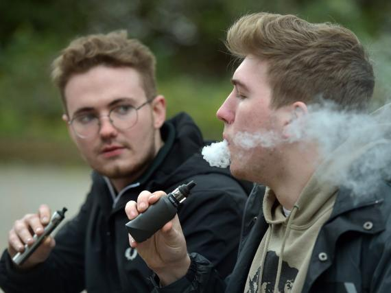 Men vaping. Nick Ansell/PA Wire/Getty Images