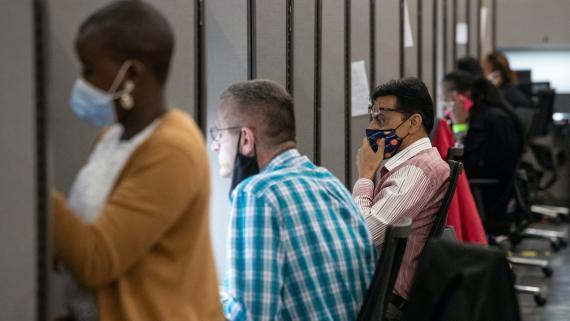 Rastreadores de contactos en Houston, Texas (EEUU) en julio de 2020.