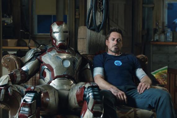 Robert Downey Jr. como Iron Man en 'Iron Man 3'.