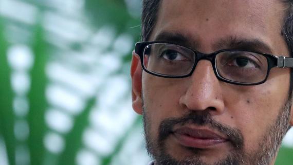 Sundar Pichai, CEO de Google, en una conferencia en Bruselas a principios de 2020.