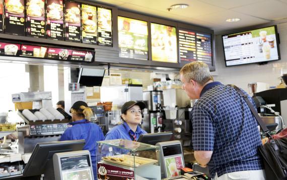 Trabajadora en el McDonald's