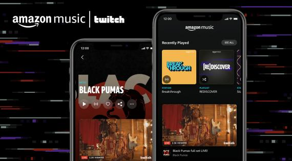 Amazon Music permite a los artistas incluir videos en directo de Twitch.