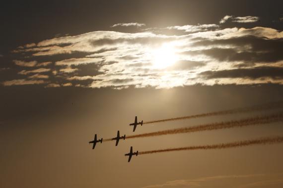 Aviones en formación