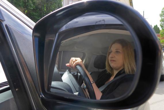 Una conductora de Uber en Australia.