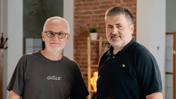 Francisco Sáez y Eudald Domènech, de Tivify.
