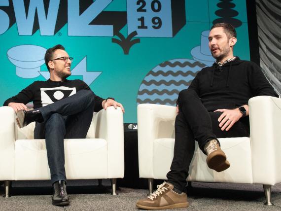 Los fundadores de Instagram, Mike Krieger (izquierda) y Kevin Systrom (derecha).