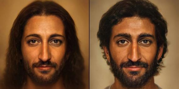Recreación del rostro de Jesucristo por el fotógrafo Bas Uterwijk.
