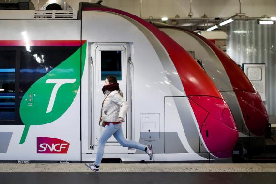 Un tren de la francesa SNCF en París, en enero de 2020.