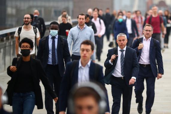 Trabajadores en Londres
