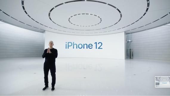 Tim Cook en el evento de octubre de Apple.