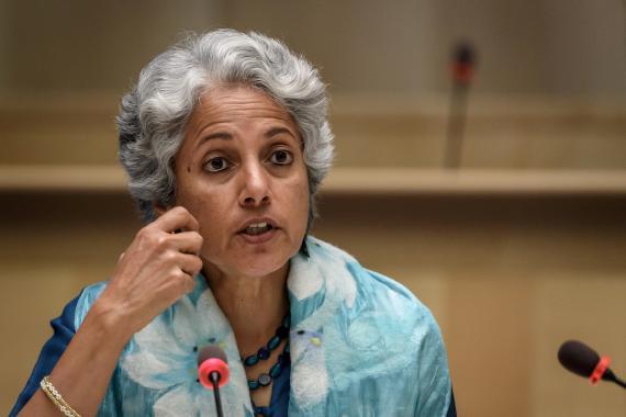 La científica principal de la Organización Mundial de la Salud (OMS), Soumya Swaminatha.