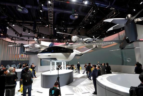 El S-A1 de Hyundai en el CES de Las Vegas, en enero de 2020.