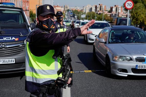 Control de tráfico en carreteras.