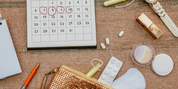 If you've been stressed or haven't been getting enough sleep, your period may be delayed. Carol Yepes/Getty Images