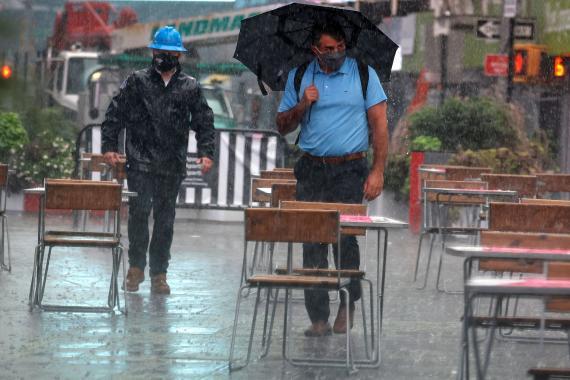 Lluvia y bajada de temperaturas