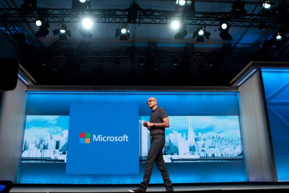 Microsoft came in No. 3 on the list. CEO Satya Nadella also ranked highly among Comparably's survey of female and BIPOC employees.