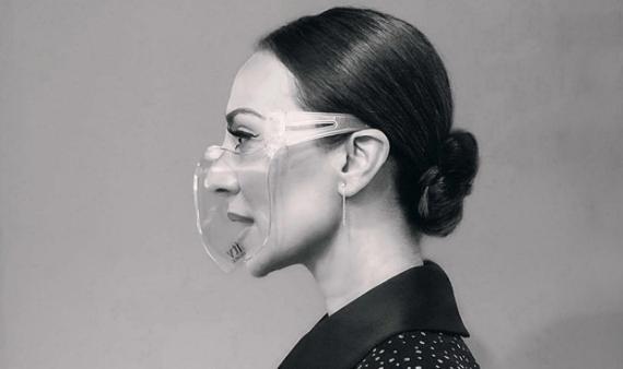Monica Naranjo con la mascarilla.