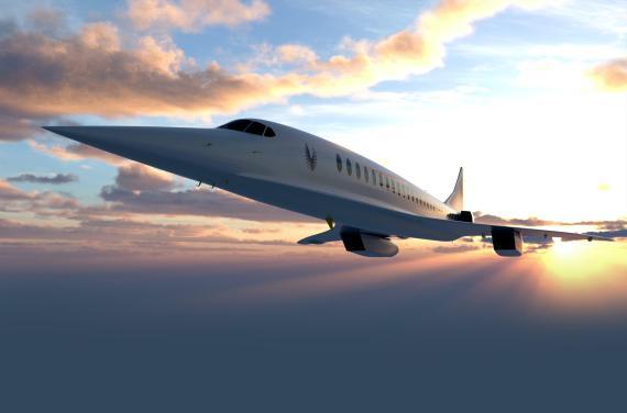 Boomb Supersonic quiere tener su primer avión comercial de pasajeros —el Overture— completamente homologado para volar en 2029.