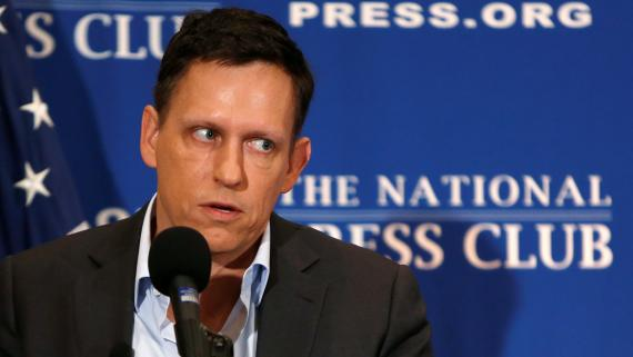Peter Thiel, presidente de Palantir.
