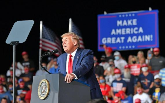 President Trump holds a campaign rally in North Carolina on September 8, 2020. Peter Zay/Anadolu Agency via Getty Images
