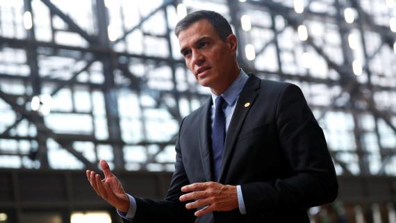 El presidente del Gobierno, Pedro Sánchez, durante la cumbre europea de octubre de 2020